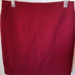 Career wear!  Alfani red stretch skirt